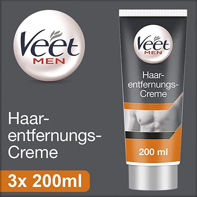Veet For Men Hair Removal Gel Cream Triple Pack by Veet ...