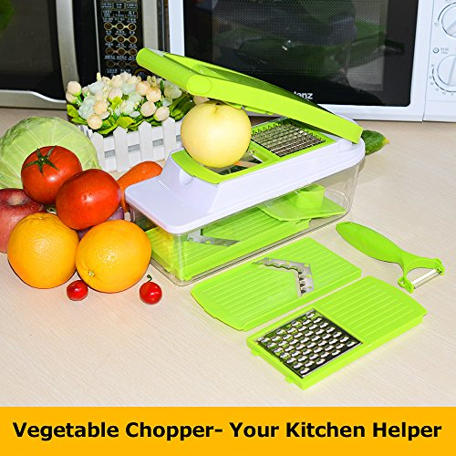 Investment StarryBay Onion, Potato, Fruits and Vegetables Multi Chopper - Slice, Shred, Cutter for Salad, Soup - Free Peeler and Instructions save