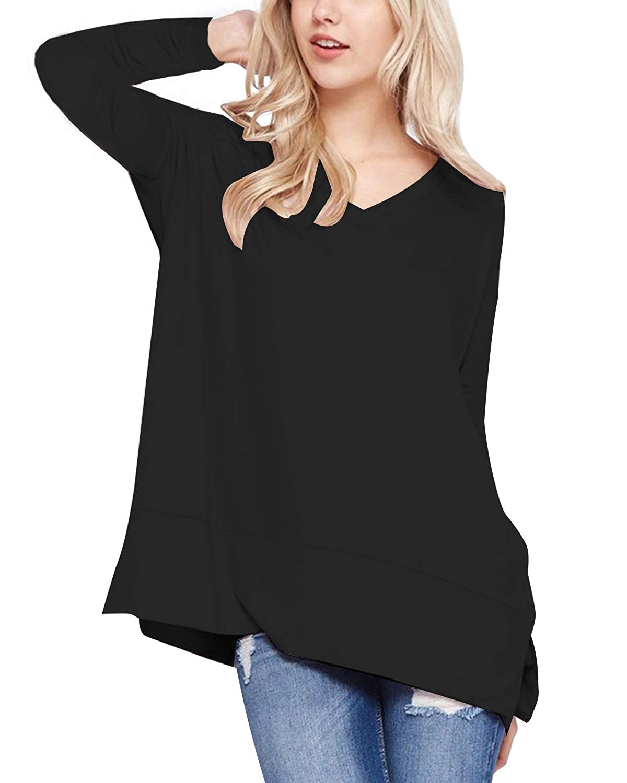 ZANZEA Camicie Donna Maglia Taglie Forti Manica Lunga Casual Shirt Elegante Basic Loose Top