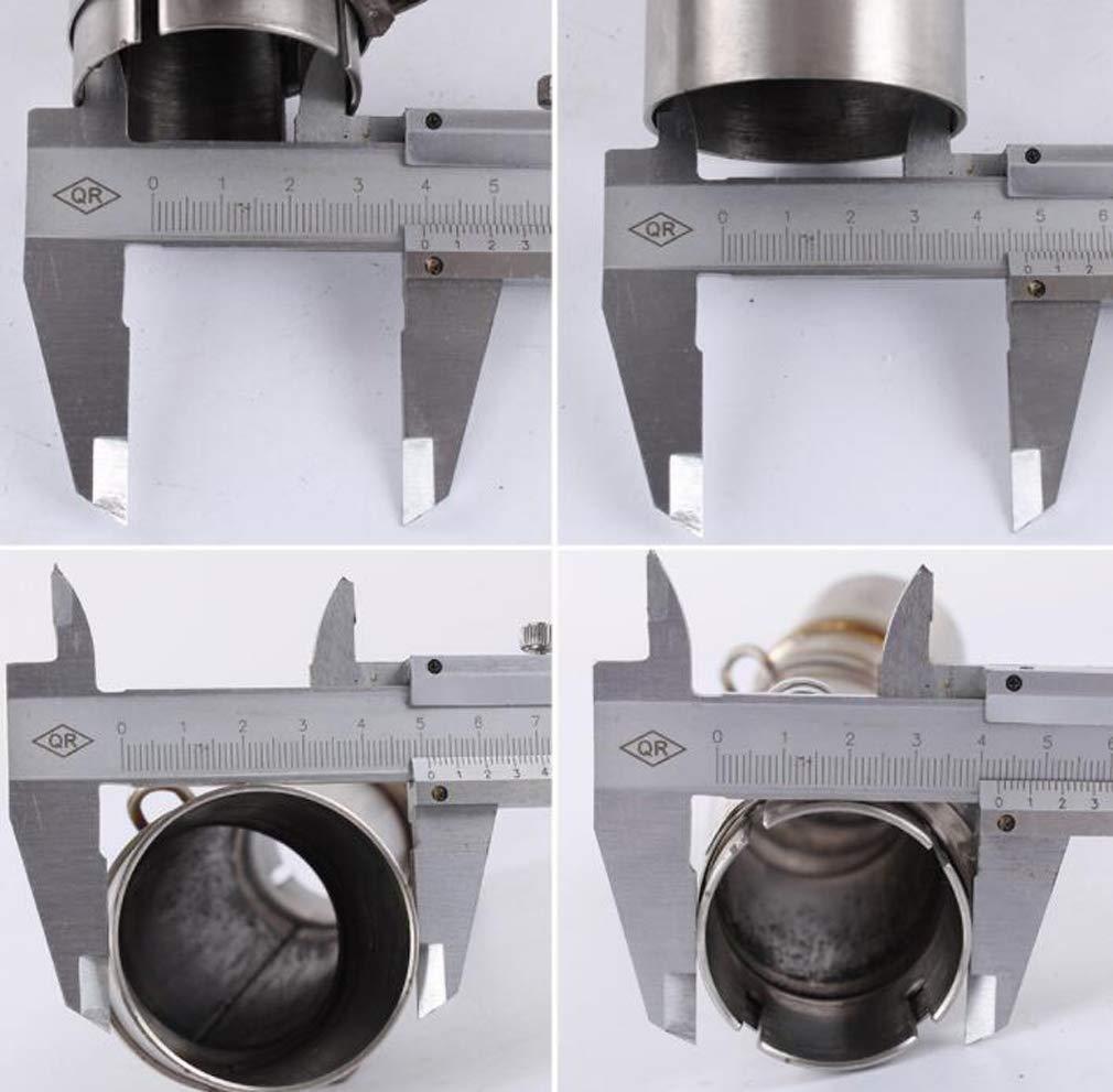 Huashao Tubo de Escape de la Motocicleta secci/ón Media de Acero Inoxidable Adecuada para Honda NC-700 NC750 NC750X 12-17 modificaci/ón