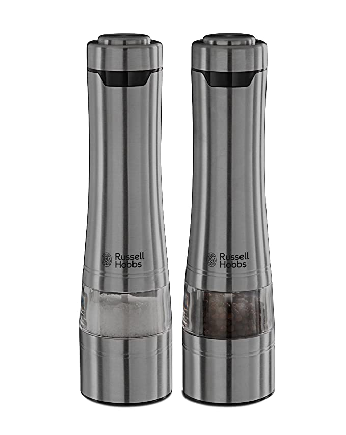 Russell Hobbs Battery Powered Salt and Pepper Grinders 23460-56 - Stainless  Steel and Silver  Amazon.co.uk  Kitchen   Home faa2b4d591