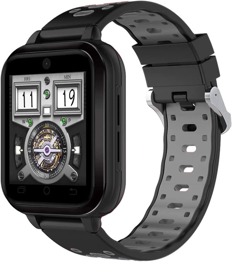 Reloj Completo Netcom 4G Connected, Soporte De Videollamada En Vivo 4G, Tarjeta Nano Sim, Ip67 A Prueba De Agua, Reloj De Frecuencia Cardíaca Bluetooth GPS WiFi (Correa Reemplazable De 18 Mm)