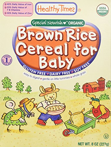 Organic Baby Cereal Brown Rice 8 oz (227 grams) by Healthy Times
