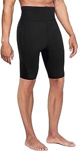 Wonderience Sauna Suit for Men Sauna Shorts Sweat Slimming Neoprene Waist Trainer Weight Loss Hot Shaper Workout Pants Shorts Thigh