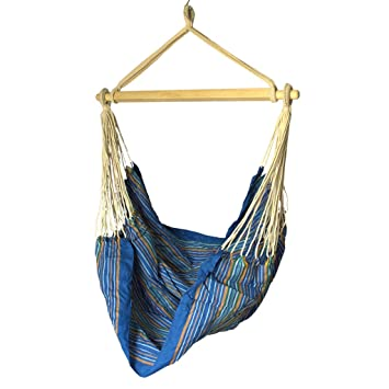 Slack Jack Brazilian Fabric Swing (Blue, White, Orange and Green)