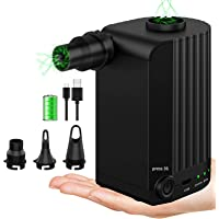 Electric Air Pump, Rechargeable Battery Air Mattress Pump, Portable Quick-Fill Inflator/Deflator Pumps with 4000mAh for…