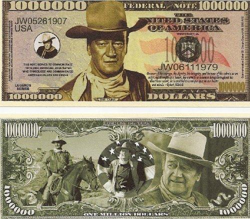 John Wayne Million Dollar Novelty Bill (Million Dollars Money Frame)