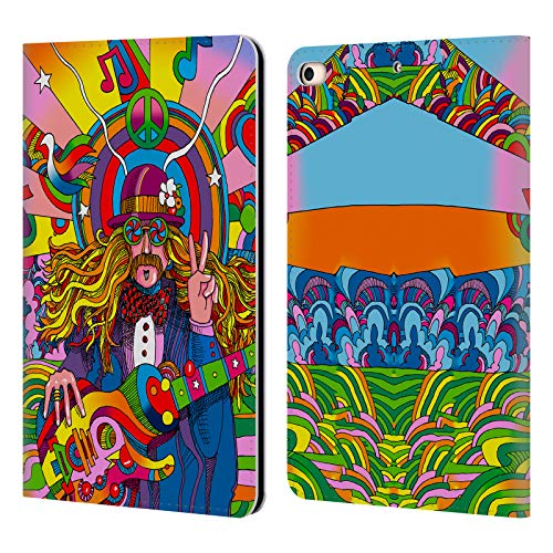 Official Howie Green Hippie Musician Psychedelic Leather Book Wallet Case Cover Compatible for iPad Mini (2019)