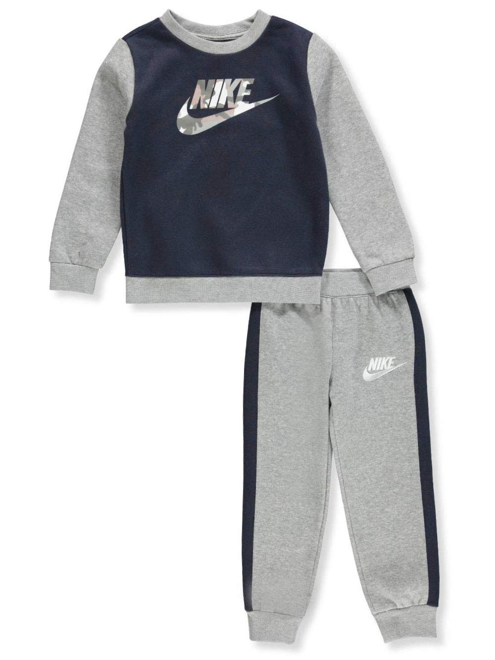 Nike Boys' 2-Piece Pants Set Outfit - Dark Gray Heather, 2t