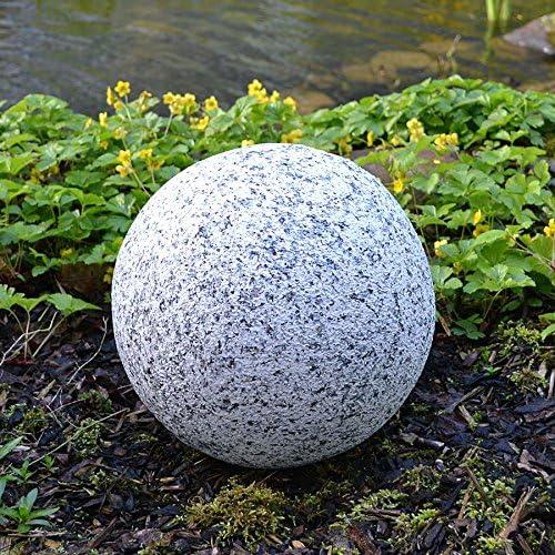 BURI Bola Decorativa en Mirada del Granito 30cm Bola de Jardín Granitkugel Bola de Piedra Decoración de Jardín: Amazon.es: Hogar
