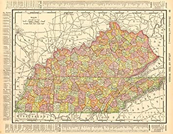 picture about Printable Map of Kentucky Counties referred to as : Kentucky and Tennessee Region map Exhibiting
