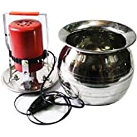 MAHIMA Electronic Mini Madhani with Lota to Percolate Curd and Making Butter Upto, 8 Kg, Brown