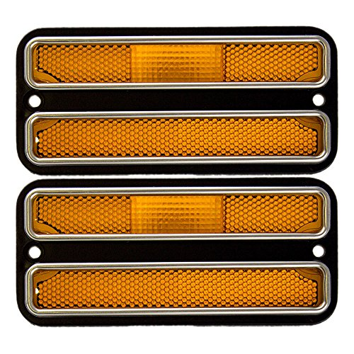 Pair of Front Signal Side Marker Light Lamp Replacement with Amber Lens for Chevrolet GMC Pickup Truck SUV Van 911310 AutoAndArt ()