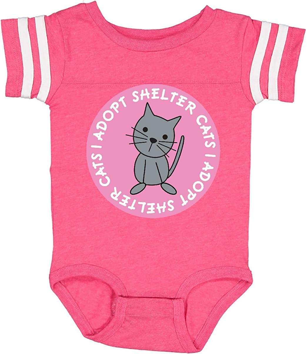 inktastic Pink I Adopt Shelter Cats Infant Creeper