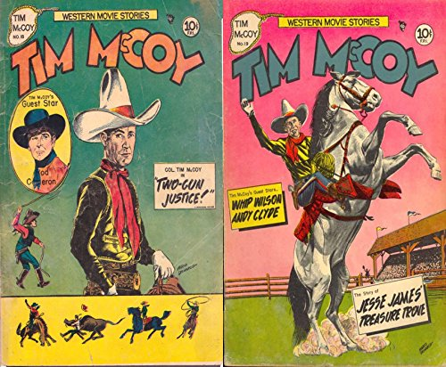 Tim McCoy. Issues 18 and 19. Western movie stories. Guest stars Rod Cameron. Features two gun justice and Jesse James treasure trove. Golden Age Digital Comics Wild West Western (The Legend Of The Golden Gun Western)