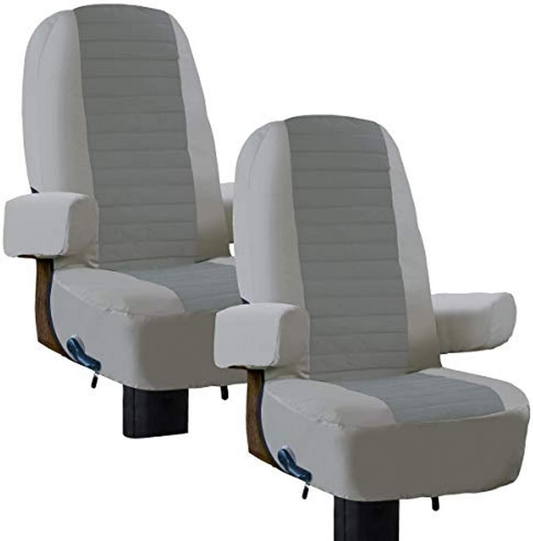 Classic Accessories 80-421-011002-RT Overdrive - Funda para asiento de vehículo RV Captain, 2 unidades, color gris