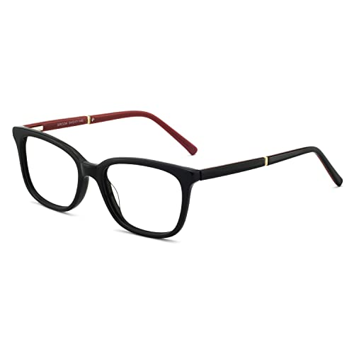 1d239930c8 OCCI CHIARI Rectangular Stylish Acetate Frame Non-Prescription Fashion  Clear Lens EyeGlasses For Women (