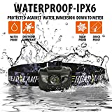 Ultra Bright LED Headlamp Flashlight - Waterproof, Impact Resistant, Lightweight & Comfortable, 3 AAA Batteries included.Great For Running Camping Hiking Hunting Working Outdoor Sport and More