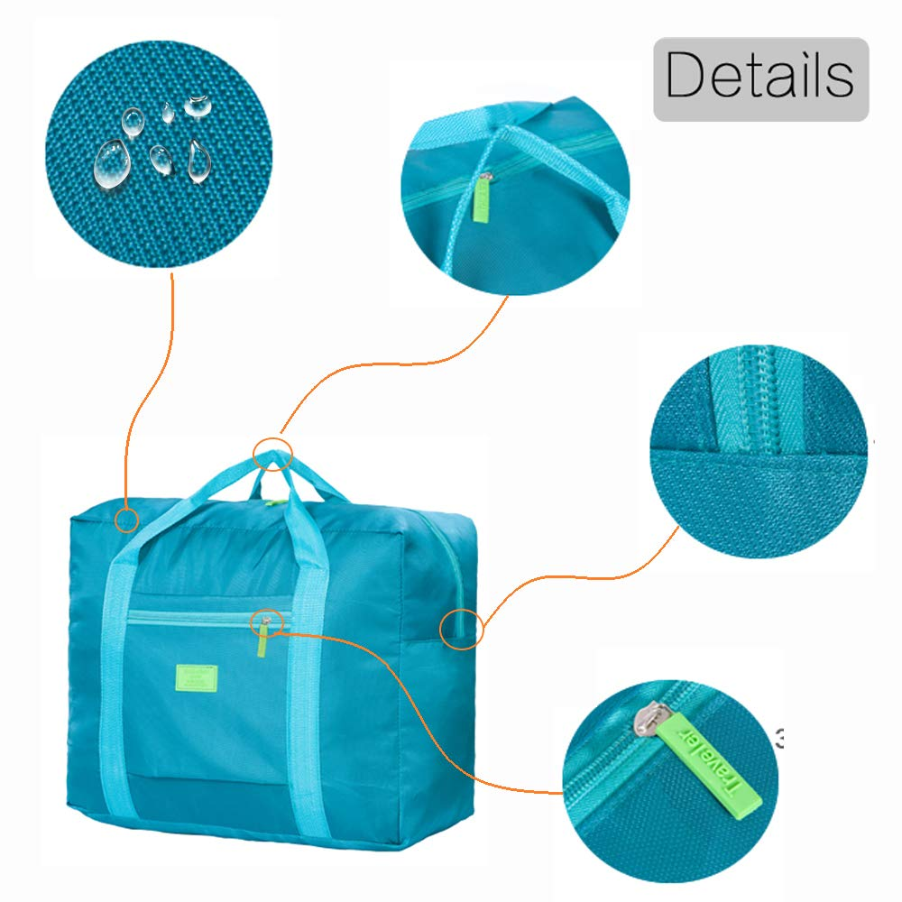 8e3ed8669583 Unova Folding Travel Duffel Bag Packable Light Nylon Water Resistant Tote  Weekend Getaway Overnight Carry-on ...