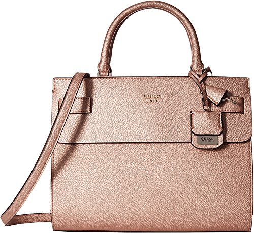 GUESS Women's Cate Satchel Rose Gold Handbag