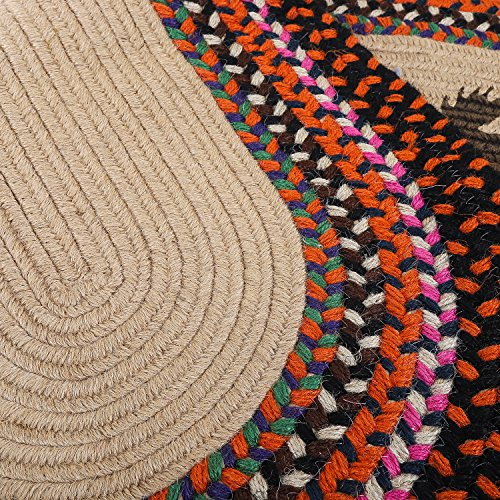 LOCHAS Braided Multicolor Area Rug Hand Woven Reversible Oval Carpet for Living Room Bedroom Kitchen Runner Rugs, 1.6' x 4' by LOCHAS (Image #6)
