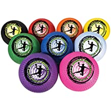 Champion Sports DB85SET Rhino World Dodgeball Set, Pack of 9