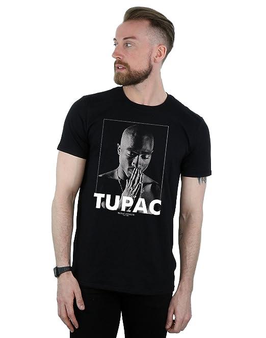 c76db467d 2Pac Hombre Tupac Shakur Praying Camiseta  Amazon.es  Ropa y accesorios