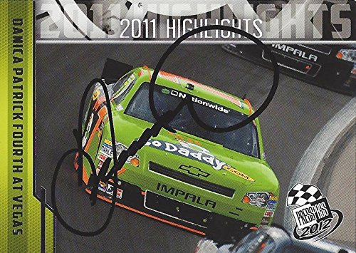 Autographed Danica Patrick 2012 Press Pass Racing 4Th Place Finish At Las Vegas   7 Godaddy Team  Nationwide Series Jr Motorsports Signed Collectible Nascar Trading Card With Coa