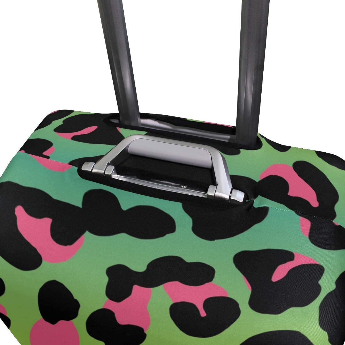 FOLPPLY Leopard Patten Luggage Cover Baggage Suitcase Travel Protector Fit for 18-32 Inch