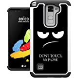 LG Stylo 2 Case, UrSpeedtekLive [Shock Absorption] Dual Layer Heavy Duty Protective Silicone Plastic Cover Case for LG Stylo 2 / LG Stylus 2 - Don't Touch