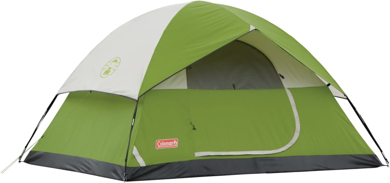 Coleman Sundome 4-Person Tent Green  sc 1 st  Amazon.com : best tent for tall people - afamca.org