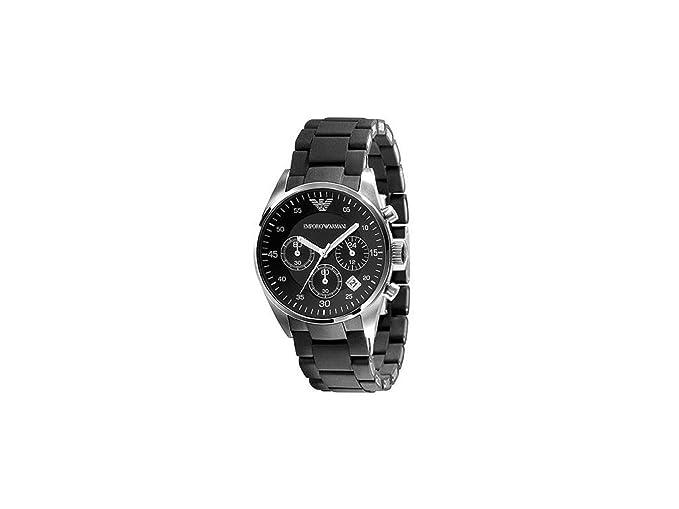 adb5d909a7 Emporio Armani Sport Silicone-Wrapped Chronograph Black Dial Unisex Watch  #AR5868: Emporio Armani: Amazon.ca: Watches