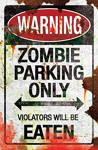 Metal Sign-Zombie Parking, As Shown, One Size