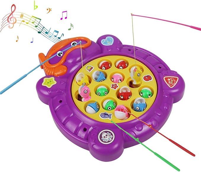 Juegos de Mesa Set de Pesca Juego de Mesa Niños Eléctricos Musical ...