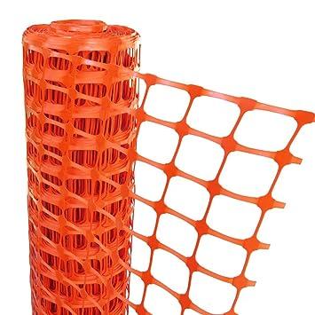 Agri-Supply Plastic Mesh Barrier Safety Fence Gardening Pest Protection  (Orange, 50)