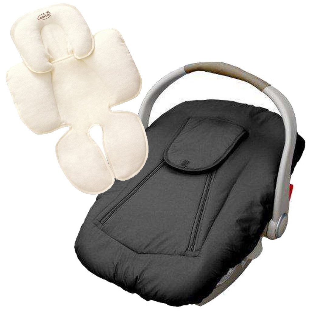 Wondrous Jolly Jumper Deluxe Car Seat Cover With Snuzzler Body Support Black Uwap Interior Chair Design Uwaporg