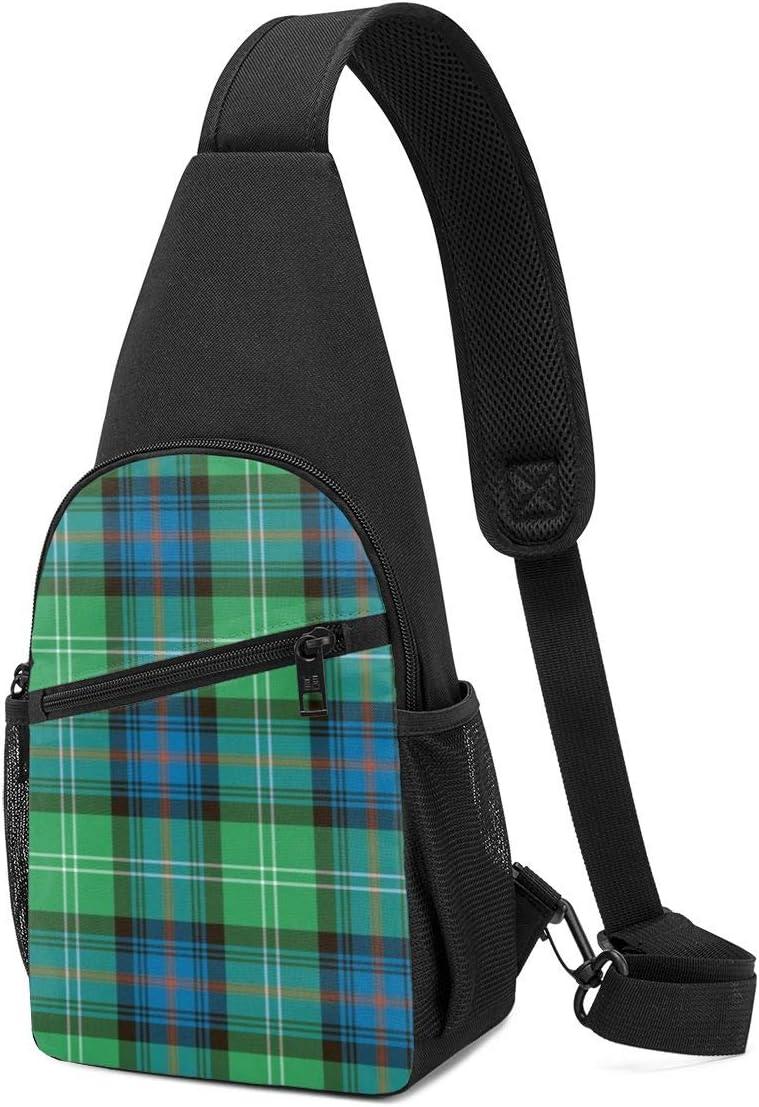 PGTry Sutherland Old Tartan Sling Bag - Mochila ligera para el hombro, mochila cruzada, bolsa de viaje, senderismo, para hombres y mujeres