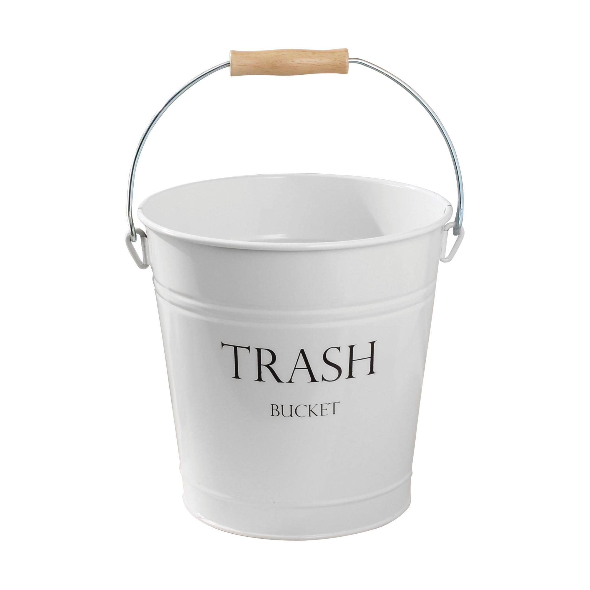 InterDesign Pail Wastebasket Trash Can - Pack of 6, White