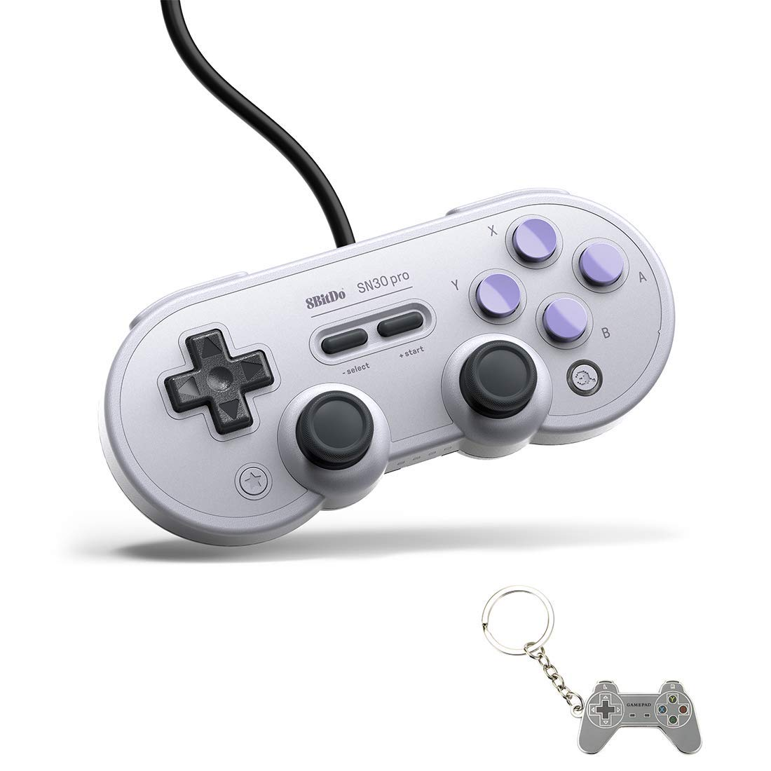 USB Game Controller for PC, 8Bitdo SN30 Pro Wired Controller/Gamepad for Raspberry Pi, Laptop and Nintendo Switch - (SN Edition)