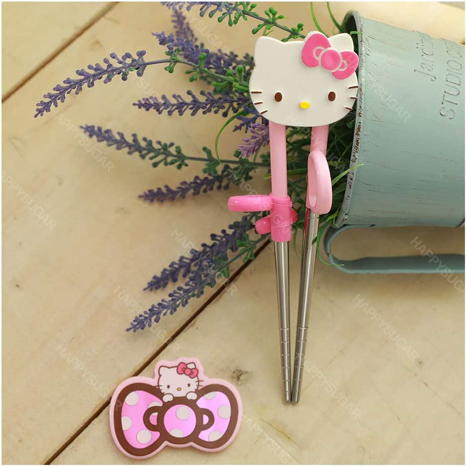 Bow Hello Kitty Kids Very First Learning Training Right-Handed Chopsticks