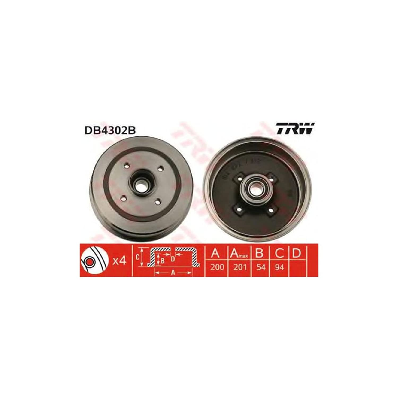 TRW Automotive AfterMarket DB4302B Bremstrommel