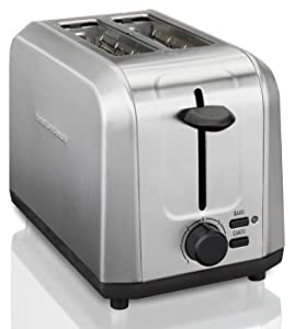 Hamilton Beach Brushed Stainless Steel Toaster with 2 Extra Wide Slots
