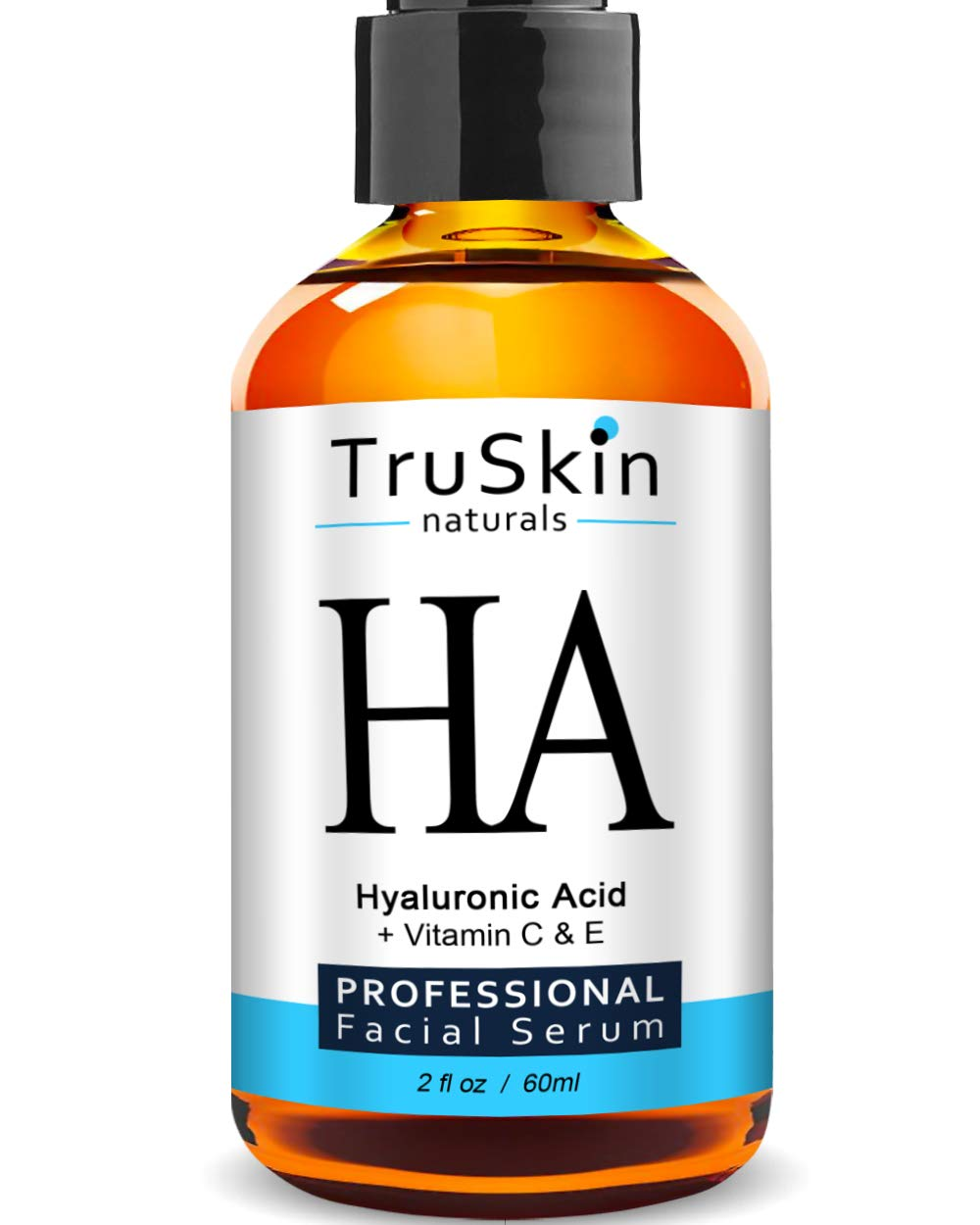 BEST Hyaluronic Acid Serum (BIG 2-OZ Bottle) for Skin & Face with Vitamin C, E, Organic Jojoba Oil, Natural Aloe and MSM - Deeply Hydrates & Plumps Skin to Fill-in Fine Lines & Wrinkles TruSkin Naturals Hyaluronic Acid Serum 2-oz
