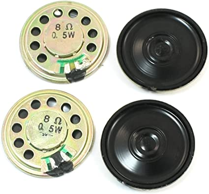 uxcell Replacement Part 2 Diameter Round Internal Magnet Speaker 8 Ohm 0.5W