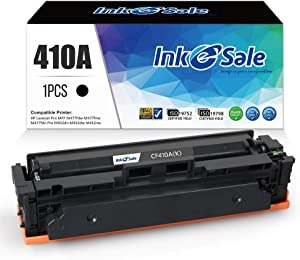 INK E-SALE Compatible Toner Replacement for HP 410A CF410A Black 1 Pack Toner Cartridge for HP Color Laserjet Pro MFP M477fnw M477fdw M477fdn M452dn M452nw M452dw M377dw Printer (1 Pack)