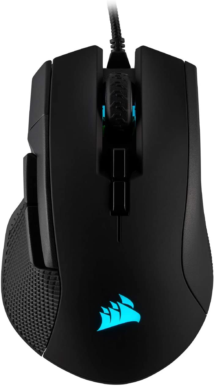 Corsair Ironclaw RGB - FPS and MOBA Gaming Mouse - 18,000 DPI Optical Sensor - Backlit RGB LED, Black