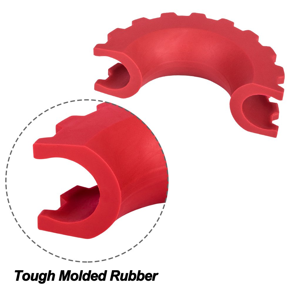 2 Years Warranty Zhongxin Liteway Red D-Ring//Shackle/Isolator Kit 2 Pieces Shackle Isolator and 4 Pieces Washer for 0.75 inch Shackle Gear Design Rattling Protection Cover