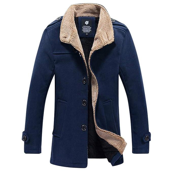 ♚ Chaqueta de Abrigo para Hombre, Chaqueta de Abrigo de Lana Gruesa para Hombre otoño Invierno al Aire Libre Chaqueta con Capucha Blusa Superior Absolute: ...