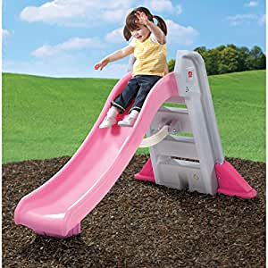 Amazon Com Step2 Big Folding Slide Pink Plastic Slide