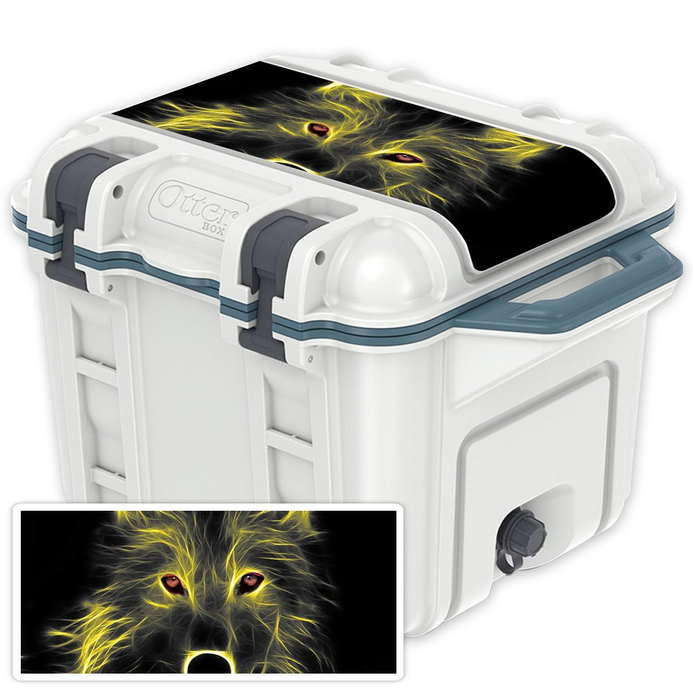 Neon Wolf OtterBox Venture 25 qt Cooler Lid MightySkins Skin Compatible with OtterBox Venture 65 qt Cooler  Pink Leopard   Predective, Durable, and Unique Vinyl Decal wrap Cover   Easy to Apply, Remove, and Change Styles   Made in The USA